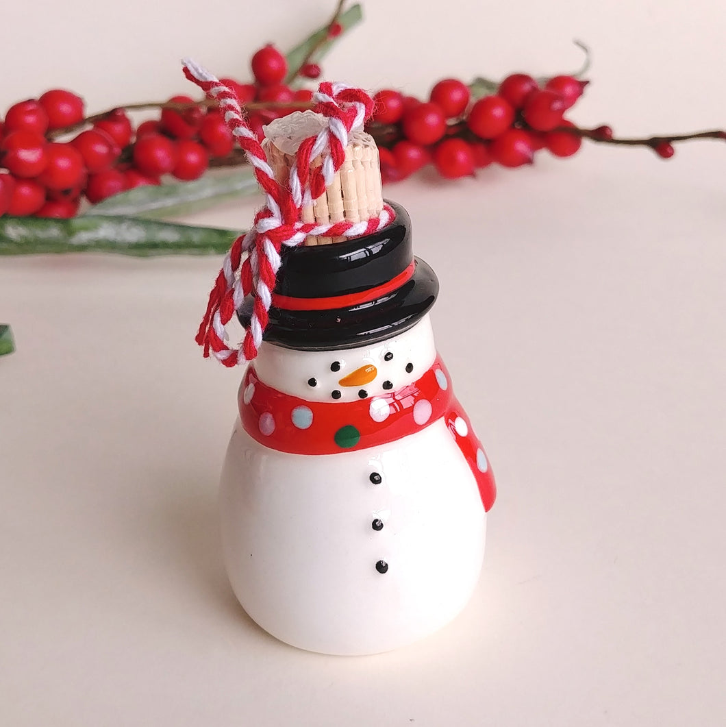 Holiday Toothpick Holder- Snowman  #473672-1