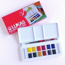 Load image into Gallery viewer, Lukas Travel 1/2 Pan Watercolours- Set of 12 #246855