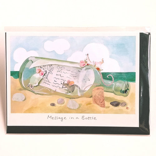 Two Bad Mice Card- Message in a Bottle  #ID77