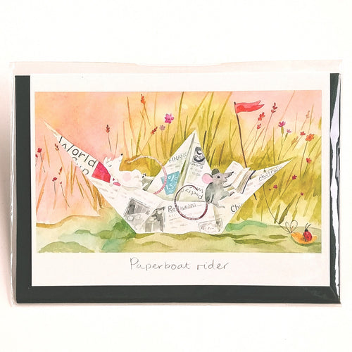 Two Bad Mice Card- Paperboat Rider  #ID71