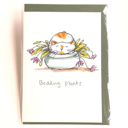 Two Bad Mice Card: Bedding Plants    #M286