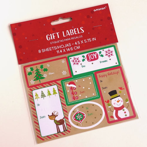 Christmas Gift Labels- Kraft  #260141