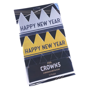 Happy New Year Foil Crowns- Set of Twelve  #250899