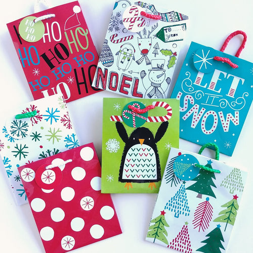 Holiday Mini Gift Bags- set of seven  #160511