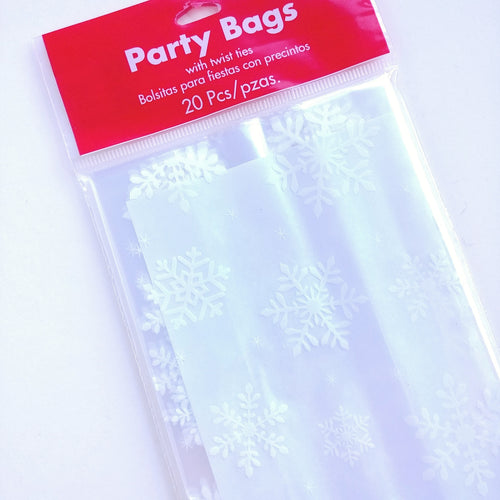 Cellophane Treat Bags- Snowflake  #370198