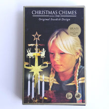 Load image into Gallery viewer, Swedish Christmas Chimes- Brass Santa