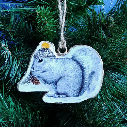 Metal Ornament: Squirrel  #37-IMPRINT-007