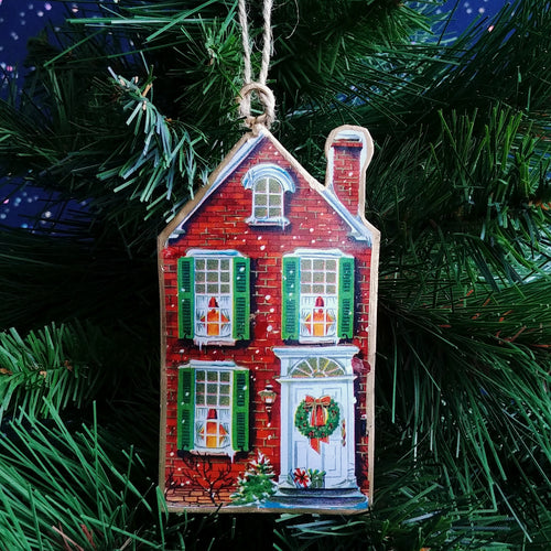 Metal Ornament: Victorian House  #37-IMPRINT-022
