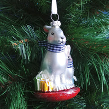 Load image into Gallery viewer, Blown Glass Ornament- Bunnies Together # 2020200445