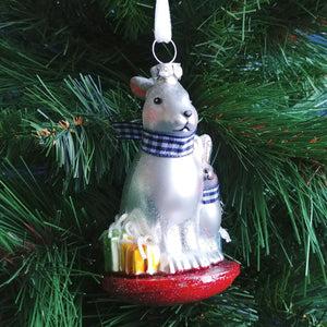 Blown Glass Ornament- Bunnies Together # 2020200445