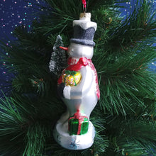 Load image into Gallery viewer, Blown Glass Ornament- Snowman #2020170331