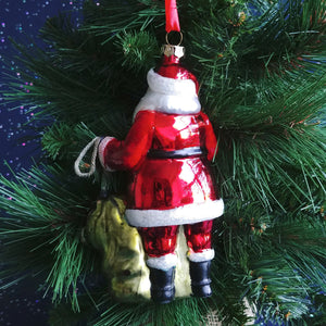 Blown Glass Ornament- Santa #2020190313