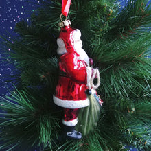 Load image into Gallery viewer, Blown Glass Ornament- Santa #2020190313