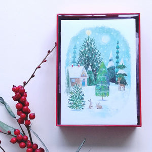 Papyrus Holiday Lg- Rural Winter Scene  #6389593