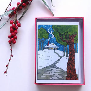 CJ Hurley Holiday Cards- Creekside House  C282-1