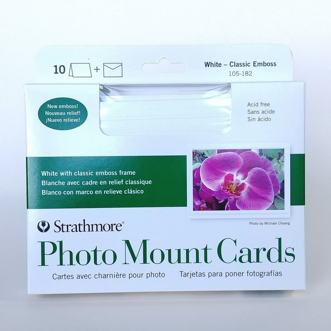 Strathmore Photo Mount Cards- Classic Emboss  #105-182