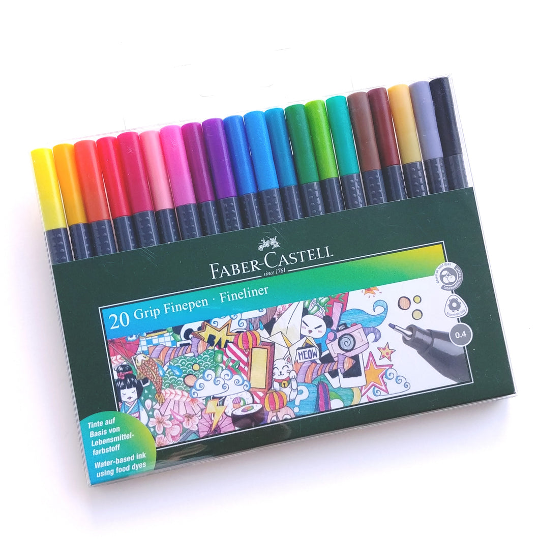 Faber-Castell Fine Pen Markers- Set of 20