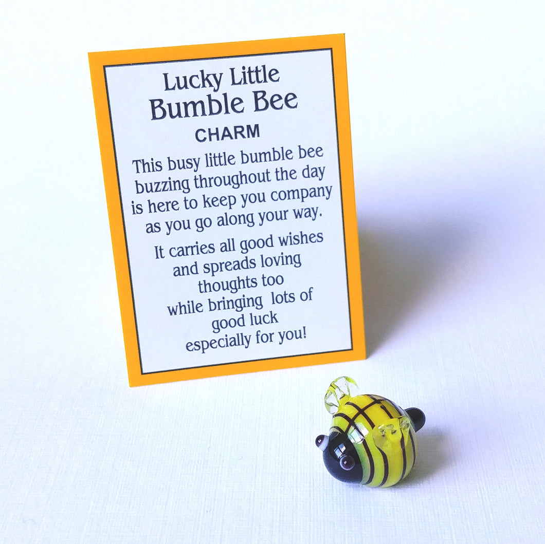 Mini Glass Charm- Bumble Bee