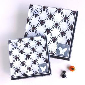 Black Spiders Napkins C/L800100