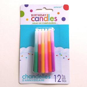 Tapered Ombre Birthday Candles  #170575