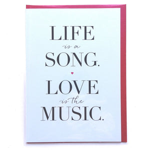 Design with Heart Card: Life is a Song...  MK09