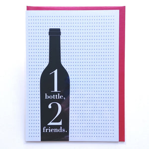 Design with Heart Card: 1 Bottle, 2 Friends  TH06