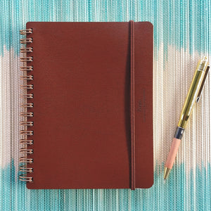 Midori World Meister Grain Notebook- Brown  #15223-006