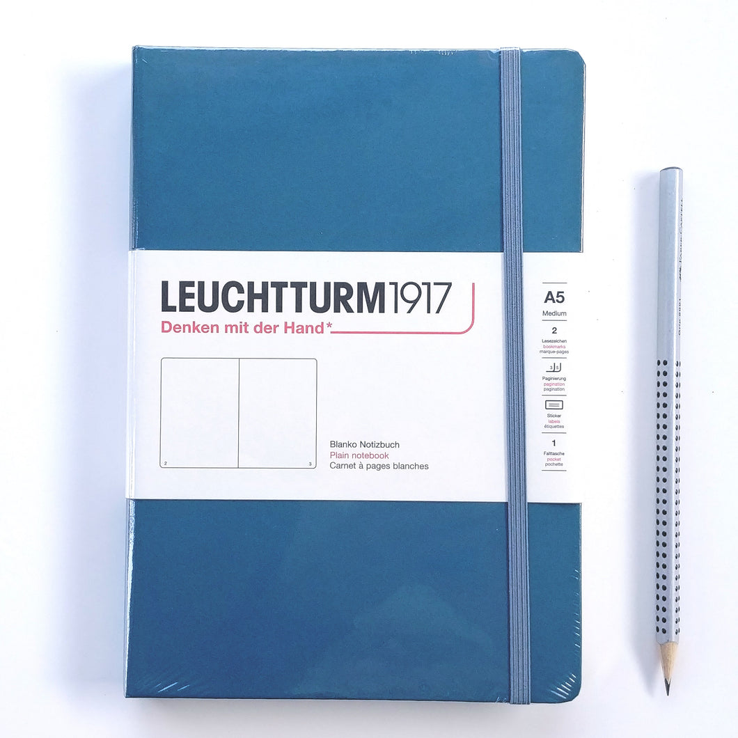 Stone Blue Blank Leuchtturm1917 Journal  #363333