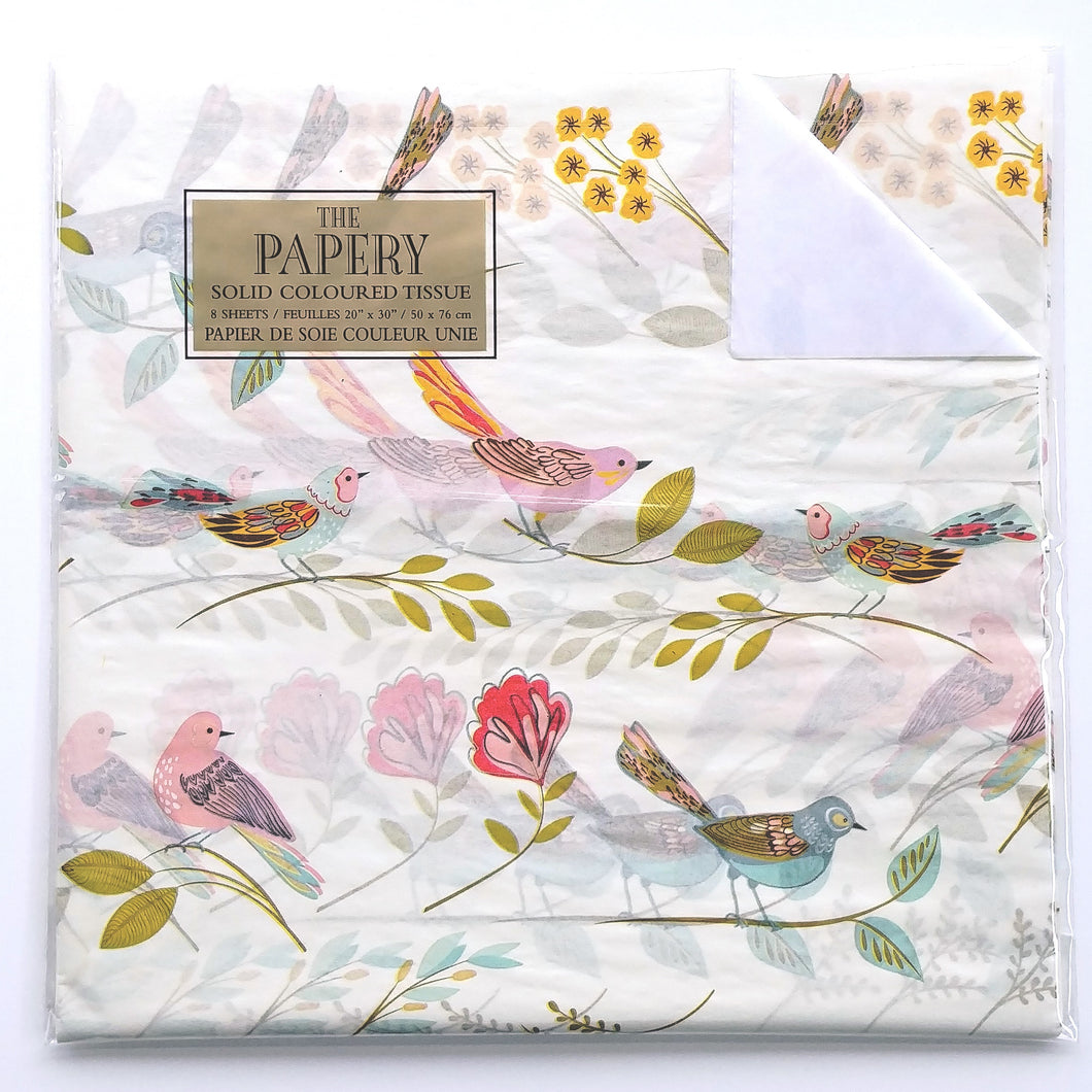 Tissue Paper- Birds on Ivory  #4599-2