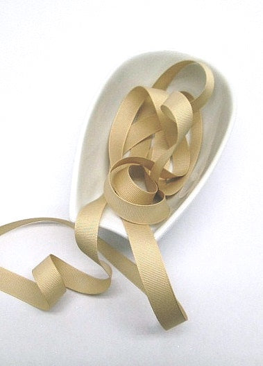 Natural Grosgrain Ribbon