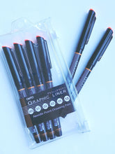 Load image into Gallery viewer, OHTO Graphic Liner Set of 6 Pens