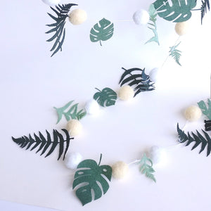 Felted Wool Foliage Garland  102561