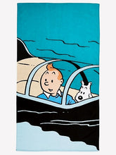 Load image into Gallery viewer, Tintin Beach Towel- Sm Shark Submarine