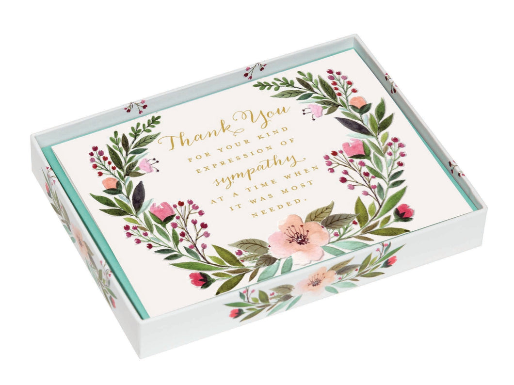Condolence Thank You Notes- Wreath    CST-18881