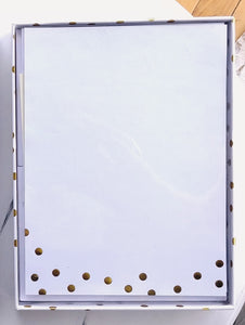 Gold Dots Boxed Stationery  #5495