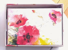 Load image into Gallery viewer, Watercolour Poppies Note Cards
