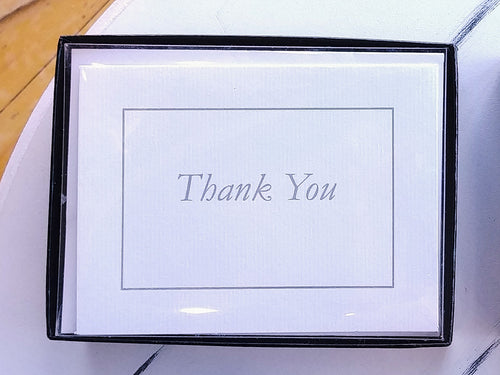 Classic White Thank You Notes   CT81-20