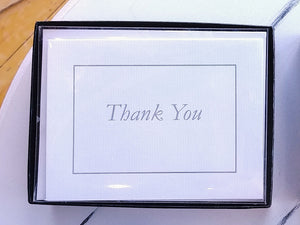 Classic White Thank You Note Cards