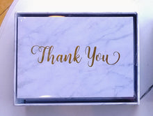 Load image into Gallery viewer, Marble Thank You Notes    #4504-1