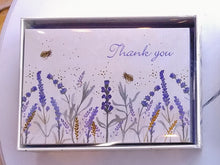 Load image into Gallery viewer, Lavender and Honey Thank You Note Cards