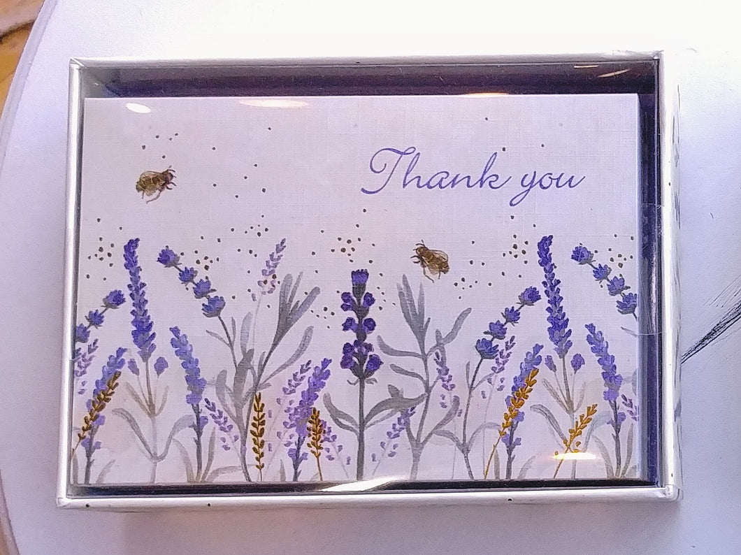 Lavender and Honey Thank You Note Cards