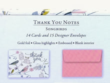 Load image into Gallery viewer, Songbirds Thank You Notes    #0116