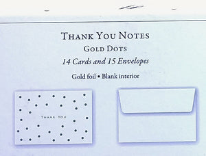 Gold Dots Thank You Notes    #9007