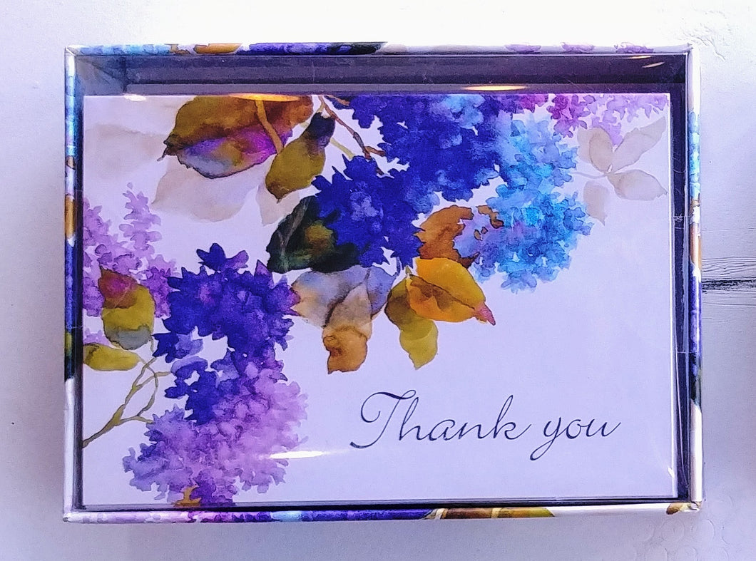 Lilacs Thank You Note Cards