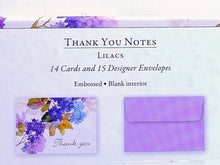 Load image into Gallery viewer, Lilacs Thank You Note Cards