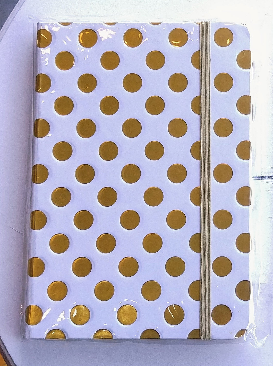 Gold Dots Lined Journal   #0049