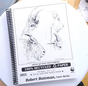 "Robert Bateman Recycled Paper Sketchbook- 8.5"" x 11""  #RP811"
