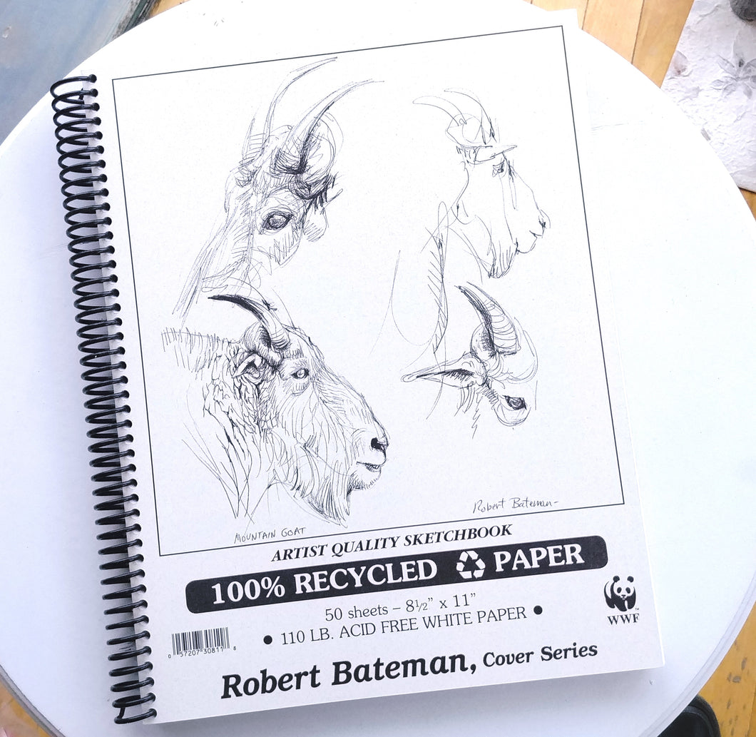 Robert Bateman Recycled Paper Sketchbook- 8.5
