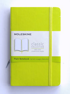 Moleskine Pocket Notebook- Blank Softcover Neon Green #850987