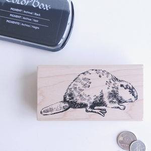 Beaver Rubber Stamp